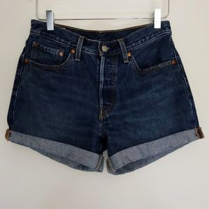 Levi's 501 Button Fly Boyfriend Fit Denim Shorts